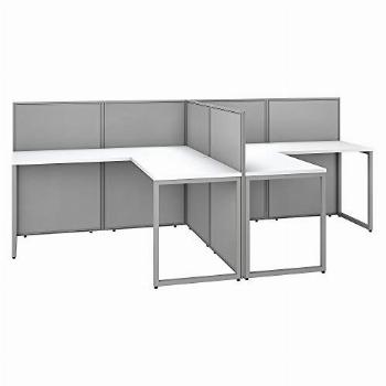 Bush Business Furniture Easy Office 2 Person L Shaped
