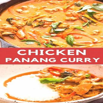 Chicken Panang Curry recipe is easy to make one pan weekday dinner that needs 30 minutes. It's rich