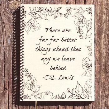 CS Lewis Better Things Ahead Journal: Cultural Bindings notebooks are inspired by culture; art, lit