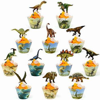 Dinosaur Cupcake Wrappers And Toppers Dinosaur Cupcake Cups