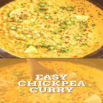 Easy Chickpea Curry This quick and easy chickpea curry recipe is a staple for an easy weeknight din