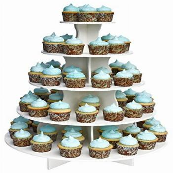 Made in The USA - The Smart Baker 5 Tier Round Cupcake Stand