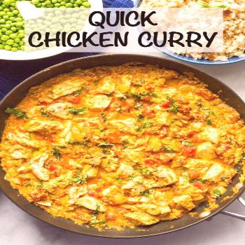 Quick chicken curry is an easy, one-pan recipe that's ready in just 15 minutes -- perfect for a b