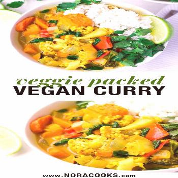 This is the perfect everyday vegan curry recipe. It's loaded with fresh vegetables, sweet potatoes,