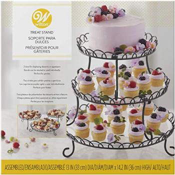 Wilton 3-Tier Customizable Scalloped Dessert and Cake Stand,