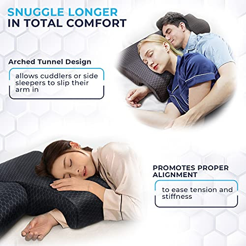 Couples Pillow with Zipper Covers - Interchangeable Arch