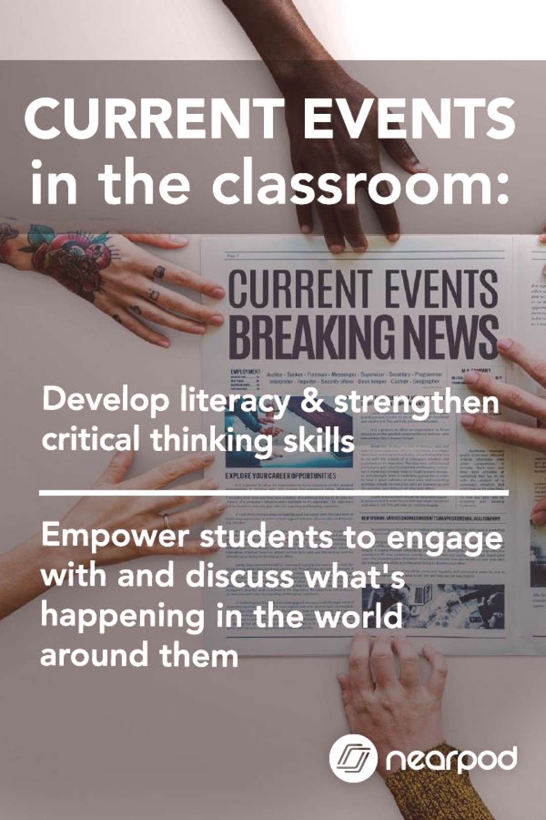 Current Events in the Classroom Do you teach current events in the classroom? Nearpod's FREE grow